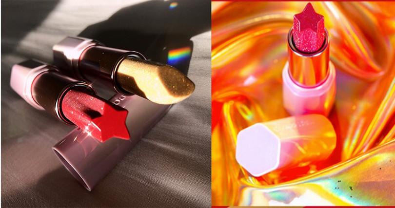 自然堂CHANDO炫彩红星唇膏限定款#櫻桃紅3.2g,¥79人民幣(京東網購價)。(圖/記者拍攝,品牌提供)