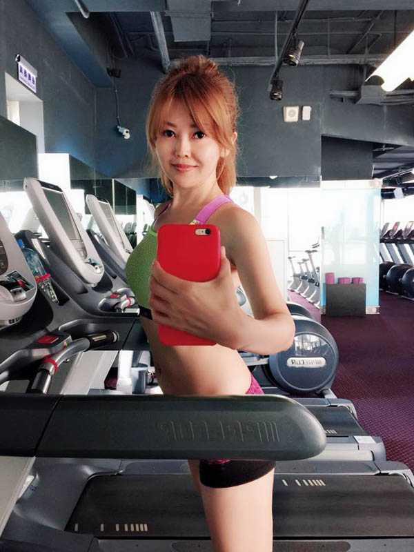 擁有大食量的張愷芝,固定會到健身房運動,維持姣好身材。(圖/張愷芝提供)