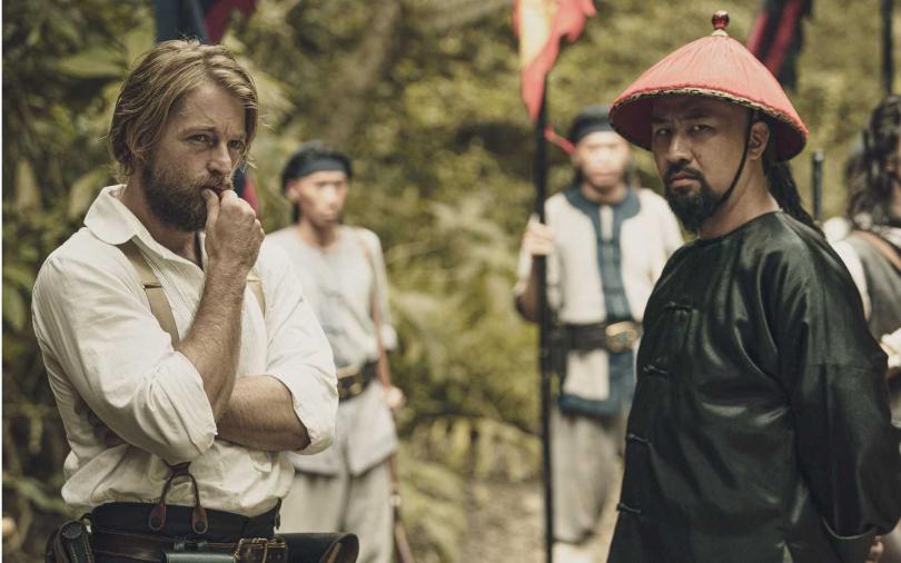 法比歐(左)與黃健瑋(右)飆戲。(圖/公視)