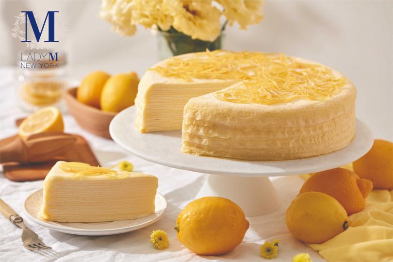 檸檬千層蛋糕(單片280元,九吋2800元)(圖/Lady M)