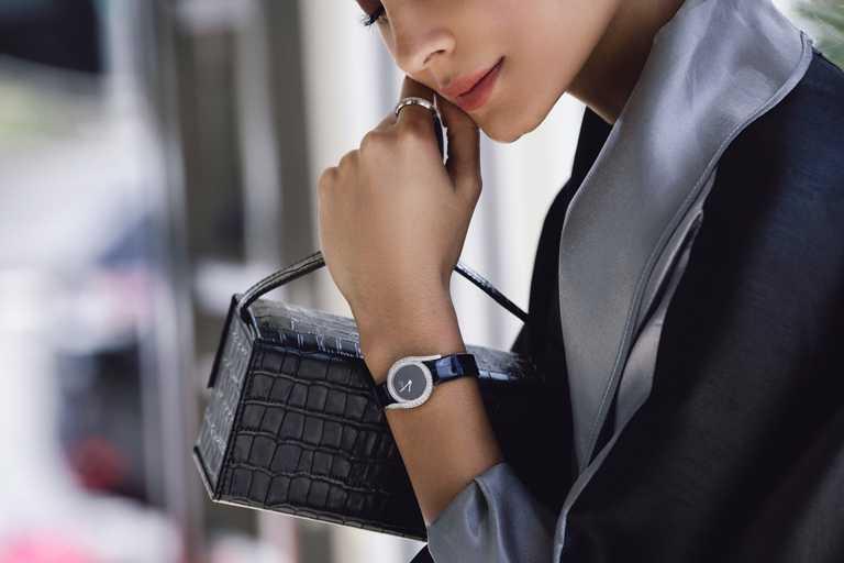 PIAGET「Limelight Gala系列」18K白金鑲鑽高級珠寶腕錶╱755,000元。(圖╱PIAGET提供)