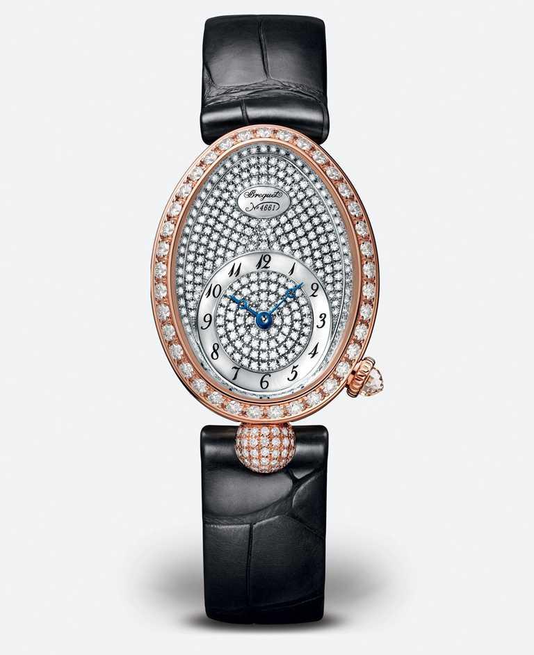 BREGUET「Reine de Naples 8928滿天星」玫瑰金鑽錶╱1,262,000元。(圖╱BREGUET提供)