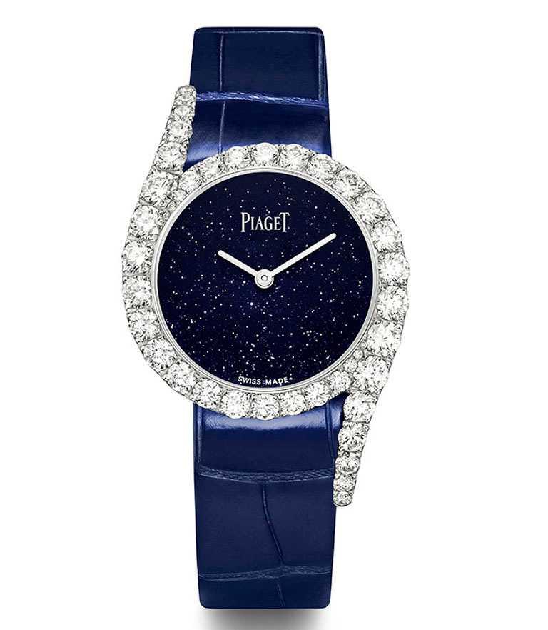 PIAGET「Limelight Gala系列」18K白金鑲鑽高級珠寶腕錶,限量200只╱1,850,000元。(圖╱PIAGET提供)