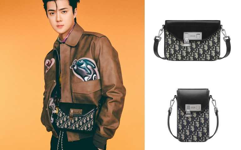 世勳搶揹全新 Dior Lock 方包亮相。(圖/品牌提供)