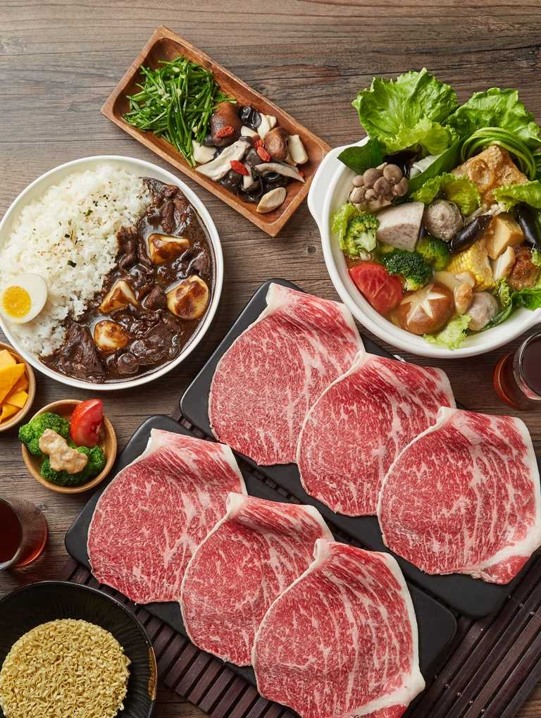 「和牛涮」外帶推出3款定食、4款生鮮鍋物,選用穀飼20個月美國極上和牛。