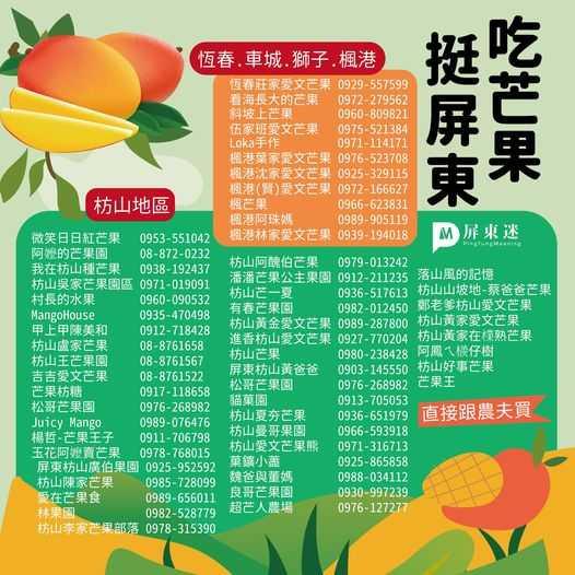 有興趣的民眾可直接跟枋山小農購買芒果。(圖/屏東迷提供)