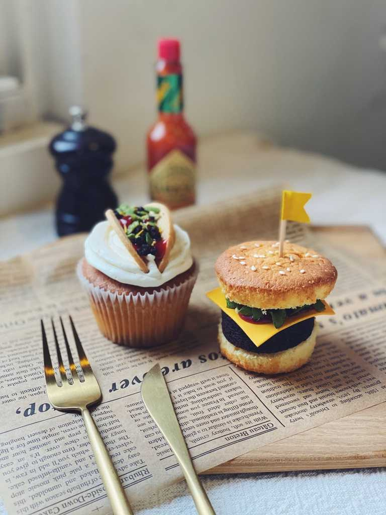 木蕾絲甜點工作坊的美墨漢堡塔可組。