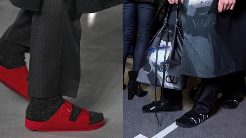 Valentino攜手德國老牌Birkenstock推出聯名鞋款。