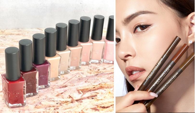 <左>NAILHOLIC 24_7指甲油 10ml/240元、<右> BeautyMaker完美立體持色眉膠筆/350元(圖/IG@shopin_photography、品牌提供)