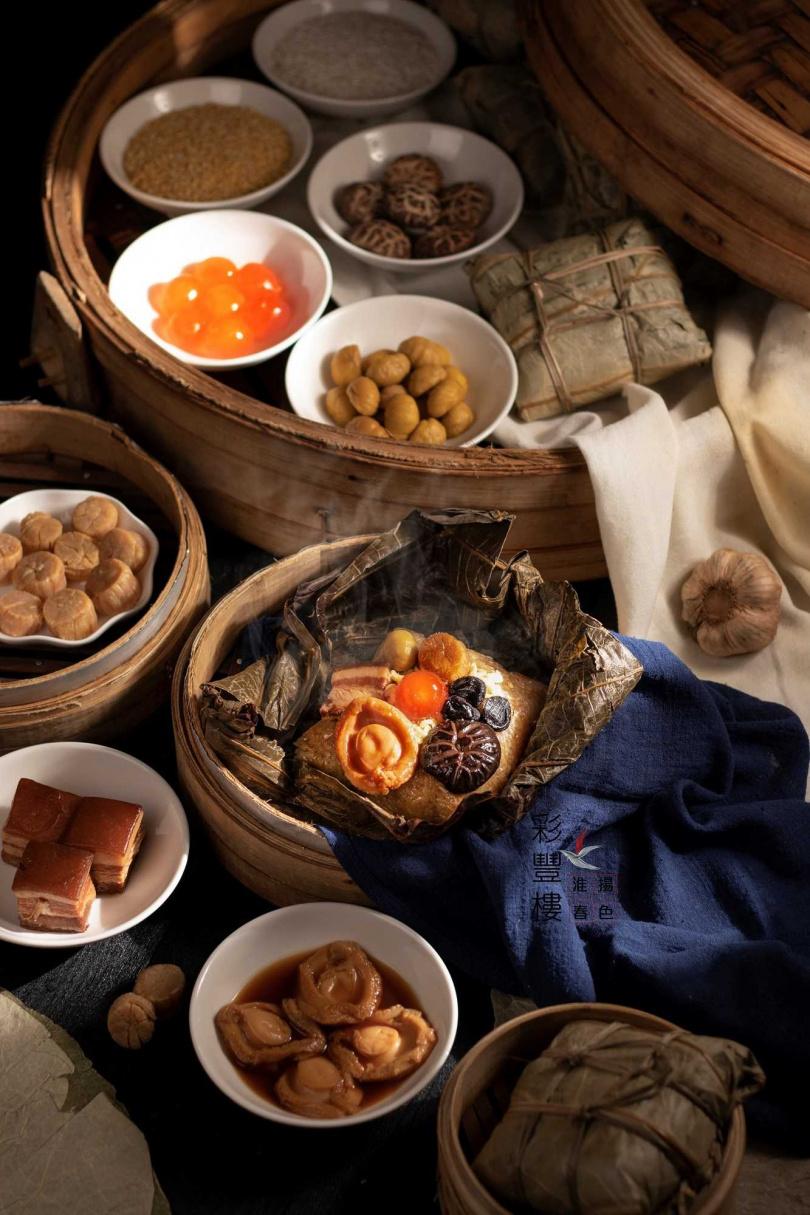 黑蒜東坡鮑魚粽。(圖/台南大員皇冠假日酒店提供)