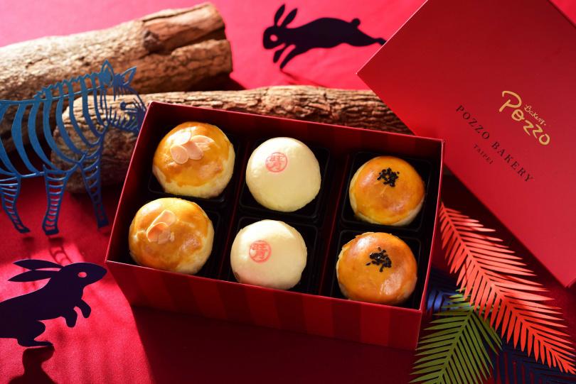神旺飯店限量「金饌蛋黃酥禮盒」含三款口味。(圖/香格里拉台南遠東國際大飯店、台北神旺飯店)