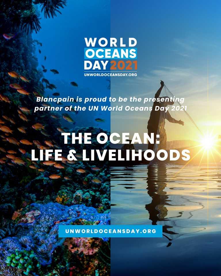 BLANCPAIN成為2021年「世界海洋日」合作夥伴,與聯合國攜手舉辦一系列線上慶祝活動。(圖╱BLANCPAIN提供)
