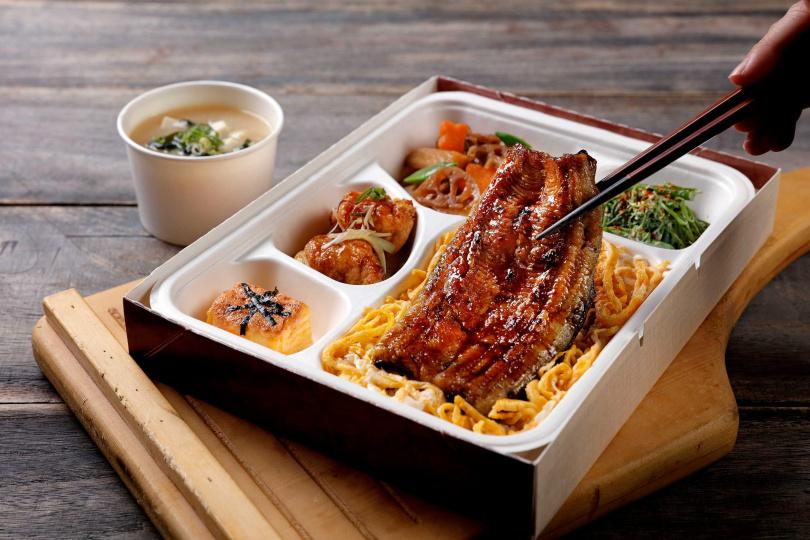 「嚴選蒲燒鰻魚便當」優惠價380元,原價550元。(圖/鳥丈爐端燒提供)