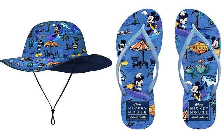 寬簷漁夫帽/2,780元、男女橡膠夾腳拖/1,280元(圖/品牌提供)