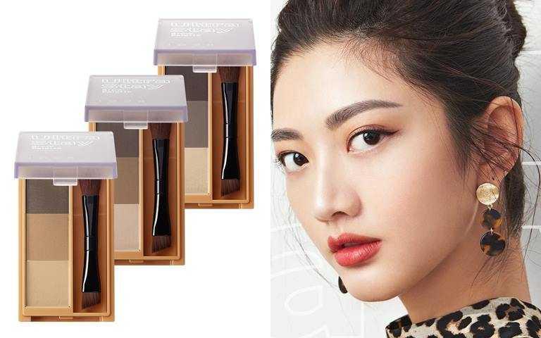 styletc小編推薦>>1028塑描大師立體眉彩盤 共3色/290元 特別為亞洲膚色和常見髮色調配的三色眉粉,讓妳輕鬆混色不失手。(圖/品牌提供)