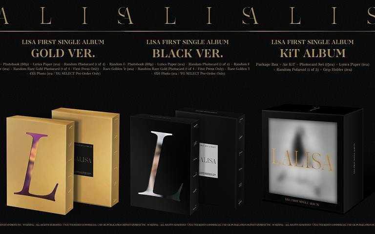 《LALISA》實體專輯還將以CD、KiT、LP三種形式發行,很懂粉絲要收藏的心。(圖/翻攝Lisa IG)