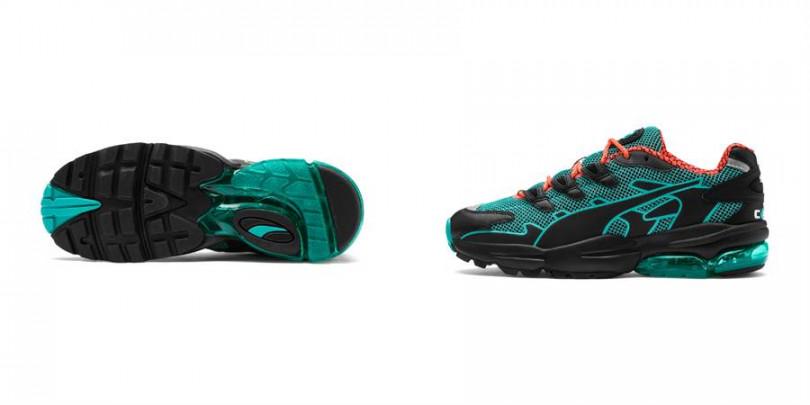鞋底的透明氣墊相當亮眼!科技感設計讓整體更加前衛了!(圖/PUMA提供)