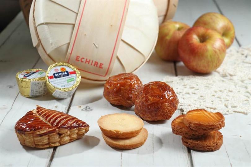 蘋果香頌、艾許奶油布列酥餅、焦糖阿曼、布列塔尼餅乾都是運用高級奶油製作而成的甜點,除蘋果香頌來自中部,後三者都是西北部高級奶油產區布列塔尼區的知名甜點。