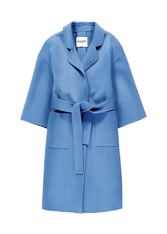 glimmer boutique藍色綁帶大衣/價格店洽