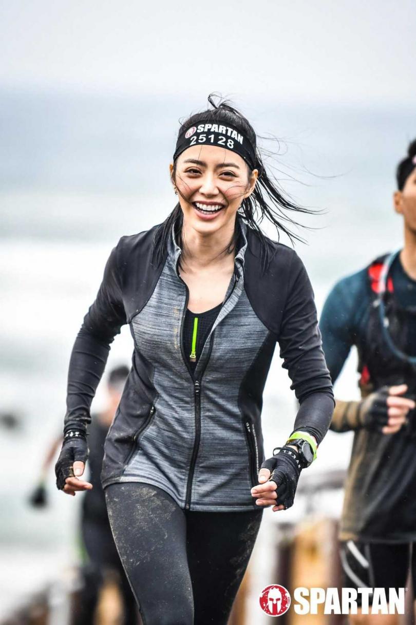 宋城希日前參加越野賽跑成為賽跑圈矚目焦點。(圖/宋城希提供)