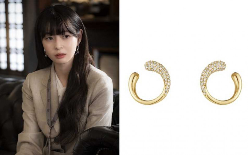 GEORG JENSEN MERCY系列18K金鑲鑽耳環/71,000元(圖/品牌提供、翻攝網路)