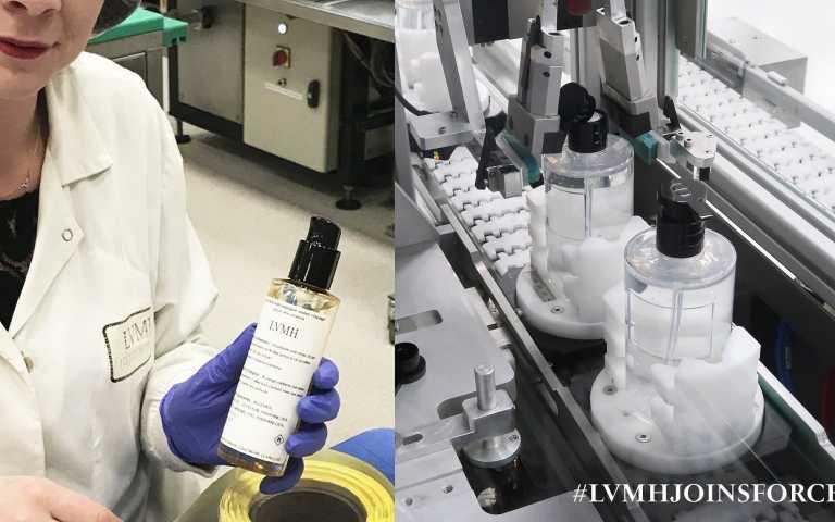LVMH集團生產濕式乾洗手,捐助醫院機構。(圖/ig)