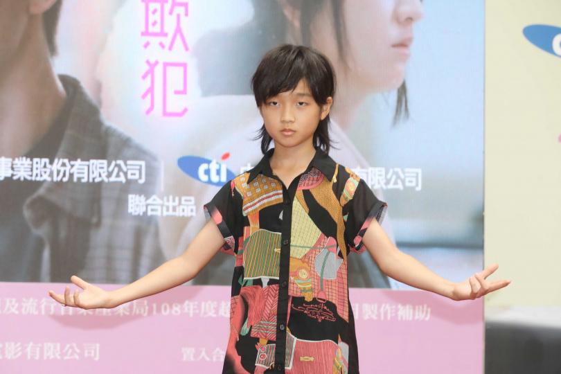 十歲台日混血童星白潤音從小就練習武術。(圖/林勝發攝)