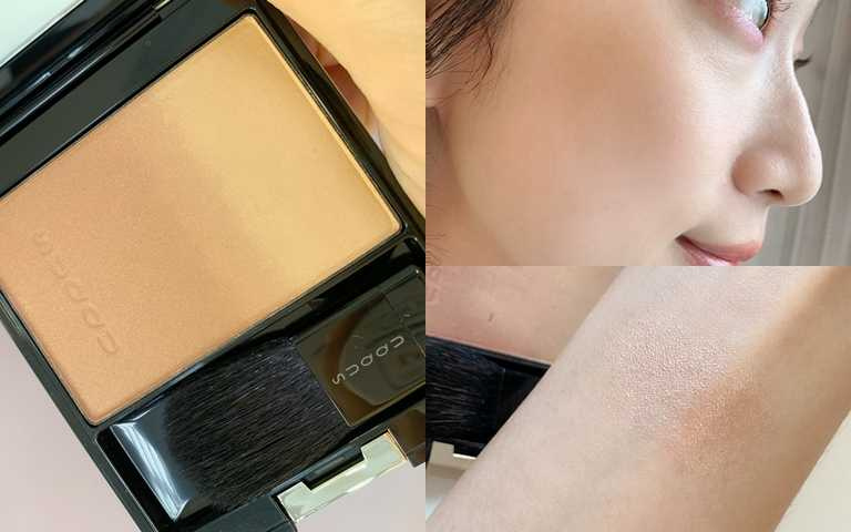 SUQQU晶采淨妍頰彩 #121 7,5g/2,100元  像這樣帶暖色調的修容才適合台灣女生的偏黃膚色,絕對不顯髒。(圖/吳雅鈴攝影)