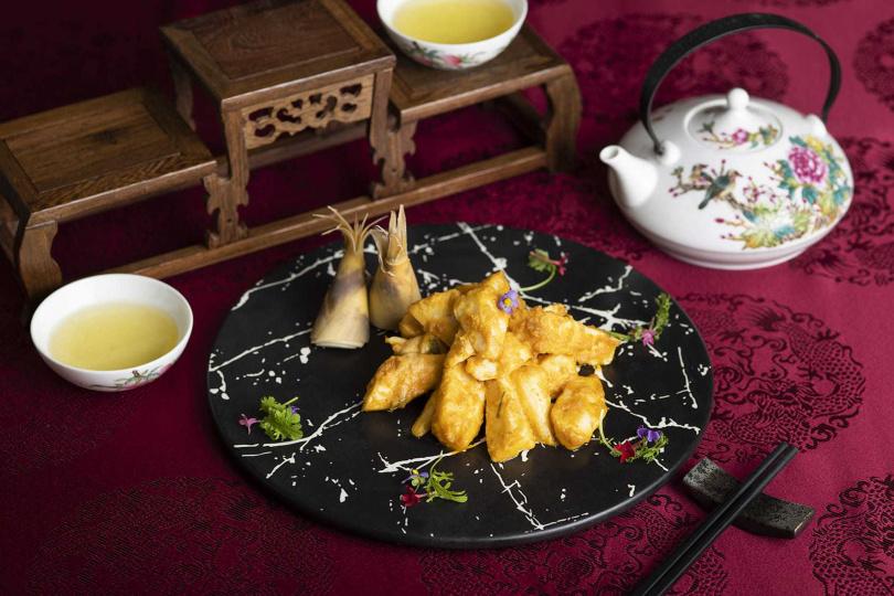金沙鮮綠筍。(圖/香格里拉台北遠東國際大飯店提供)