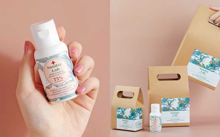 Sunday Lab 75%酒精燕麥保濕乾洗手凝露/300元  除了單瓶款式,還有貼心的多入組禮盒包裝讓妳送禮更方便。(圖/品牌提供)