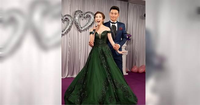 王宇婕、陳冠霖第一次在台八演CP,頗受觀眾歡迎。(圖/三立提供)