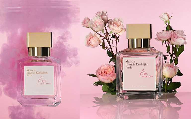 玫瑰之水L'eau A la Rose 70ml/NT5,900,À la rose 愛戀玫瑰Eau de Parfum淡香精70ml/NT6,980(圖/Maison Francis Kurkdjian提供)