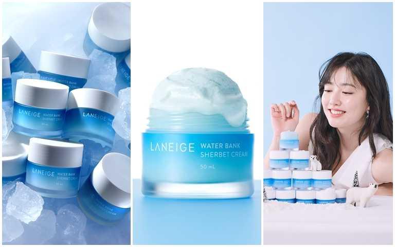 LANEIGE水酷肌因沁涼雪酪霜 50ml/1,350元  妝前用可讓後續底妝更完美服貼,晚上用則能舒緩肌膚經過白天日曬後的傷害。(圖/品牌提供)
