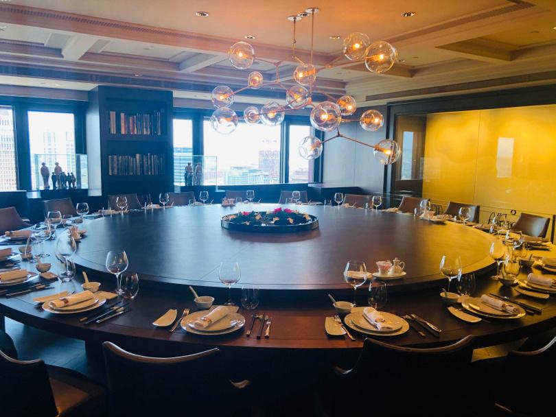 最大的包廂可容納30位客人用餐。(圖/余玫鈴攝)