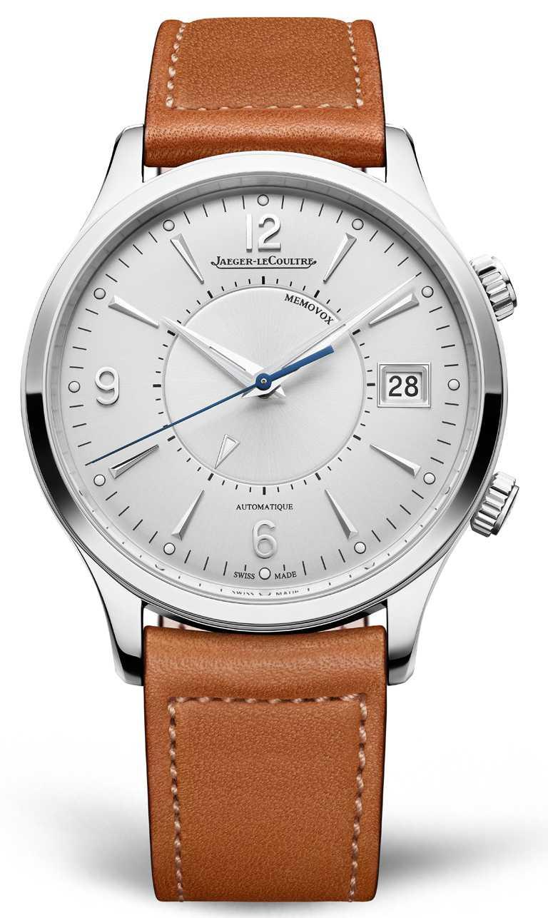 JAEGER-LECOULTRE「MASTER CONTROL MEMOVOX大師系列響鬧腕錶」,精鋼錶殼,956AA型自動上鏈機芯,40mm╱367,000元。(圖╱JAEGER-LECOULTRE提供)