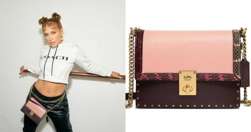細緻奢華的設計,可以符合各種不同風格造型。COACH x Jennifer Lopez Hutton手袋/23,800元(圖/品牌提供)