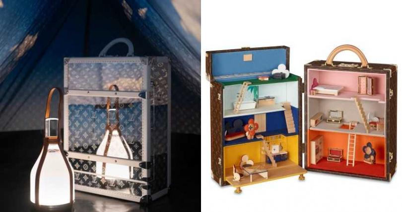 每款Monogram Mirror後背包硬箱,可搭配選購一個專屬帳篷打造專屬天地。還將經典的硬箱變成可愛的娃娃屋,放進Vivienne玩偶與多達22件傢俱。(圖/品牌提供)