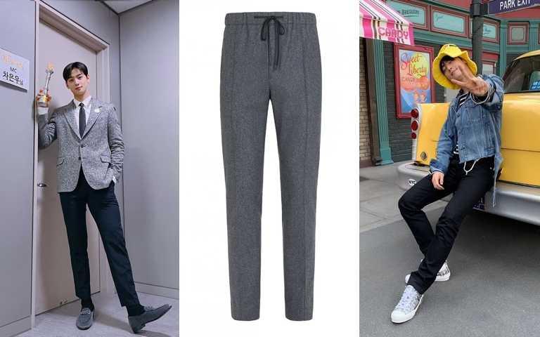 想跟車銀優穿一樣,你可以選這款>>FENDI灰色羊毛西裝褲/24,500元(圖/品牌提供、翻攝車銀優IG)