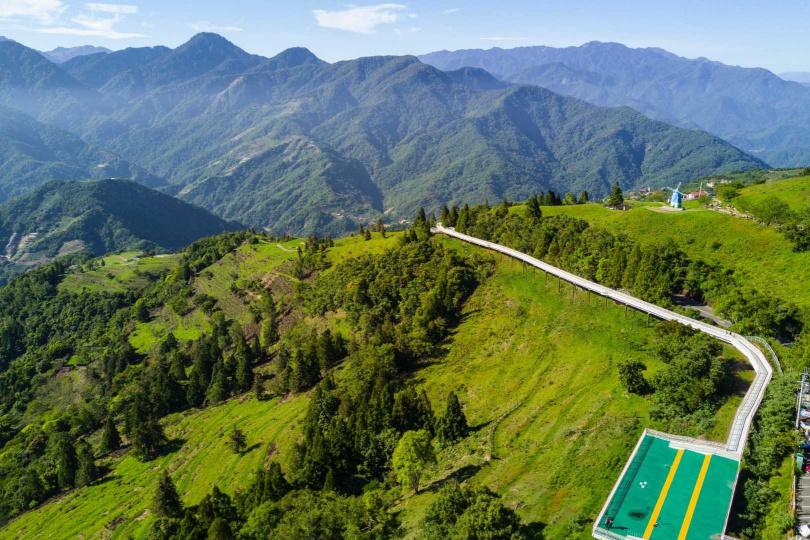 南投清境高空觀景步道。(圖/KLOOK提供)