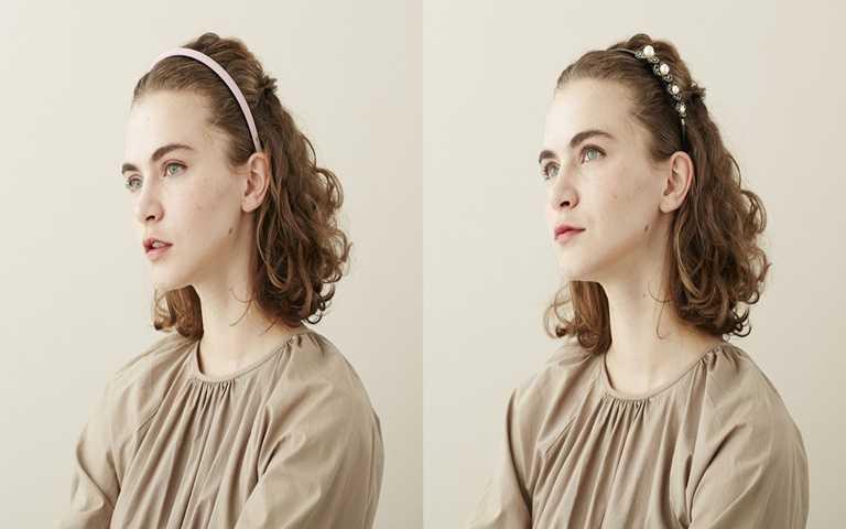 公主閨房細版髮箍。