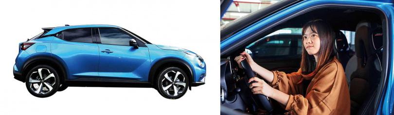 搭載雷諾與賓士合作開發的1.0升直列三缸渦輪引擎,動力表現相當不錯(左)。圓潤的造型,讓Juke深獲女性車主青睞(右)。(圖/王永泰攝)