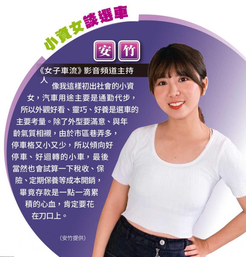小資女談選車(圖/安竹提供)