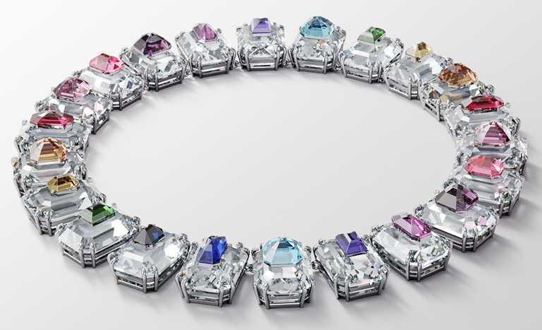 SWAROVSKI「Wonderlab Collection I」系列,CHROMA豔彩水晶項鍊╱31,900元。(圖╱SWAROVSKI提供)