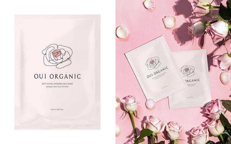Oui Organic玫瑰精萃煥顏保濕面膜 單片/原價250元、新品上市體驗價238元(圖/品牌提供)