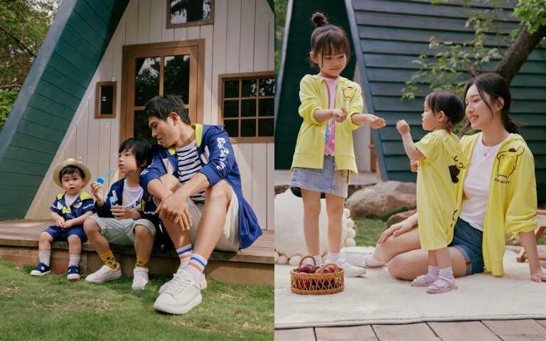 H&M 三麗鷗 Sanrio 聯名童裝系列同步推出親子裝,一家人穿起來也太可愛幸福了!(圖/品牌提供)
