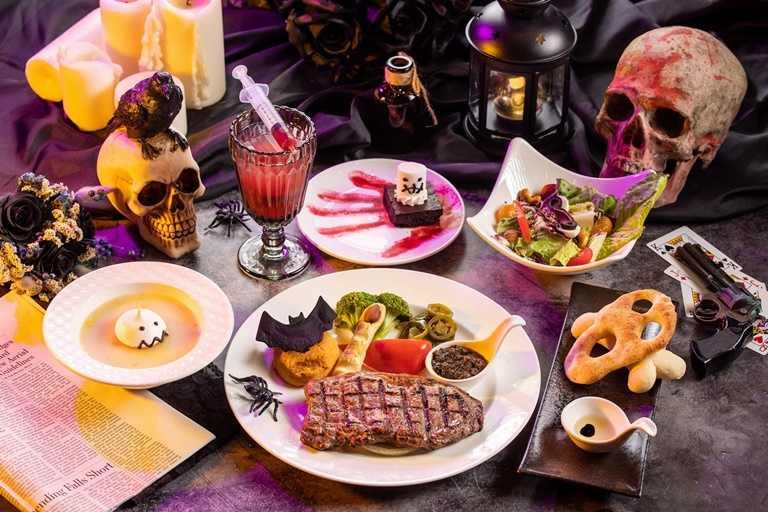 入住關西六福莊「屍變墓碑鎮 惡靈餐廳」住房專案,就贈六福村惡靈餐廳膽顫魂飛特餐2客等好禮。