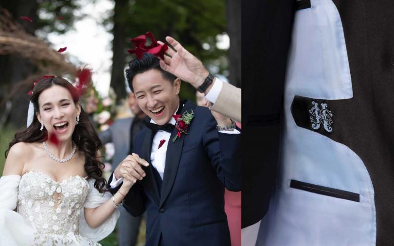韓庚紐西蘭大婚身穿BOSS訂製系列禮服。(圖/品牌提供)