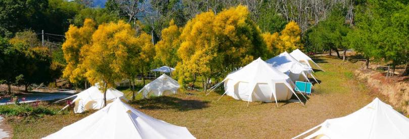 願森林一泊二食露營體驗。(圖/KKDay提供)