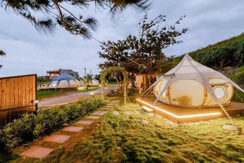 花蓮七星潭踏浪星辰Camp豪華露營。(圖/KKDay提供)