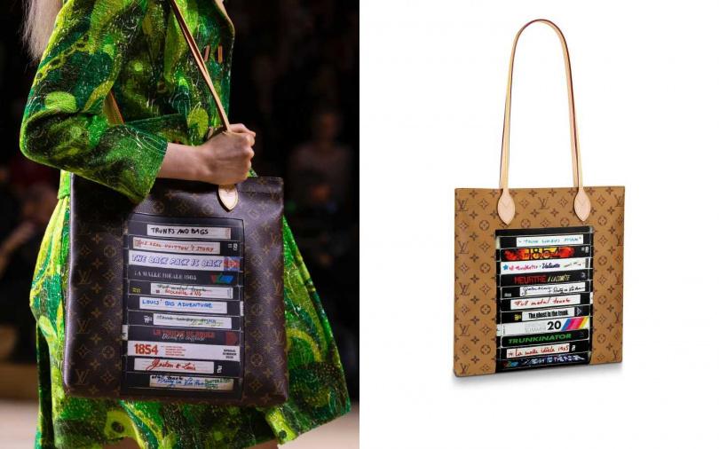 加上壓印上錄影帶圖案讓次文化風格融入其中。Louis Vuitton Carry It/71,000元(圖/品牌提供)